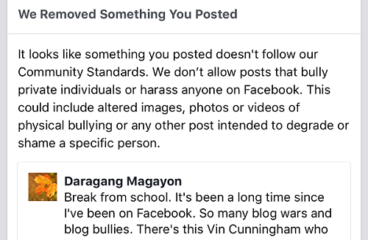 Even Daragang Magayon is now being targeted